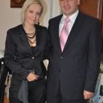 Marina Mia Končar i Dragan Jovanović,  predsednik opstine Topola